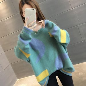 Pullover Sweaters Fashion 2018 Women Loose Sweaters Autumn Winter Knit Sweater Plus Size Christmas Sweater Drop Shipping