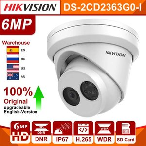 Original Hikvision IP Camera DS-2CD2363G0-I 6MP IR Fixed Turret H.265 CCTV Security Camera Dome Night Vision HD Network