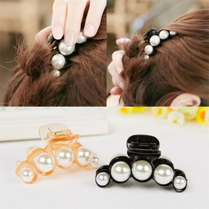 Luxury Pearls Hairpins Hair Ornaments Trendy Hair Clip Shiny Rhinestone Crab Hair Claws For Women Girl Accessories Headwear