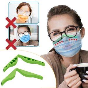 Contra la niebla de silicona puente de la nariz almohadillas de la nariz Puentes Protección Diseño de tira flexible de accesorios Prevenir las lentes de nebulización DIY Cara Máscara OOA9128