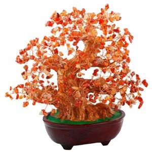 TUMBEELLUWA citrino natural amatista cornalina dinero árbol Bonsai Tumbled Crystal Riqueza Suerte Fengshui Curación Decoración de 8 pulgadas