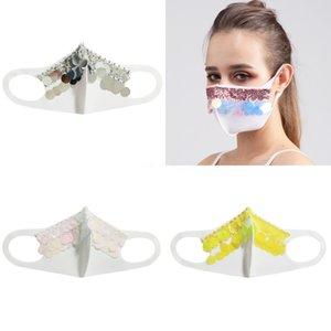 Женщины Девушки Необычные Магия Защитная маска для лица Ночной клуб Показать Блестки Cosplay Party DesignerFace маска # 933