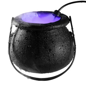 Halloween witch atomizer lamp Halloween decoration witch frosted pot led Fog Machine lighting 3 Colors Changing atmosphere party decoration