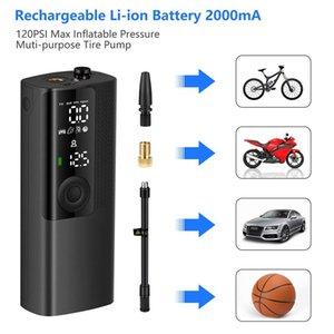 Bisiklet Car için newo BP198 Taşınabilir Akıllı Şişme Pompa Çok Fonksiyonlu HD LCD Dijital Ekran Kablosuz Akıllı Hava Pompası 12V
