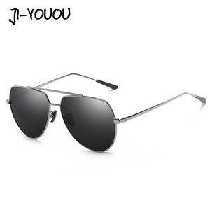 JIYOUOU lunettes de soleil pour les hommes 2020 New Métal polarisants femmes Lunettes de soleil mode unisexe HD lunettes UV400 lunettes steampunk gros