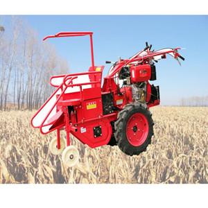 Satılık Mısır Orak Machine ile tarım Mısır döver küçük ev el itme dizel tek sıralı mısır hasat makinesi