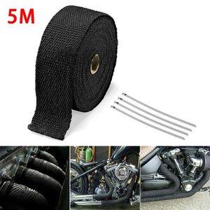 OLOMM 5M Auto-Motorrad-Auspuff-Verpackung Rohrkopf Wärme Wrap Turbo Fächerkrümmer Wärmeabzugsthermoband Edelstahl Krawatten