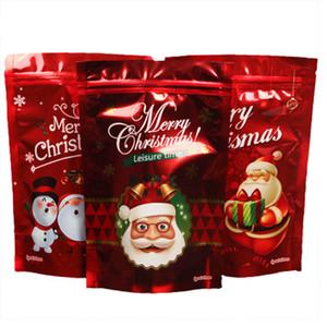 Sac de Noël Relchoor Stand Up Aluminium Foil Doypack Emballage Sacs X-mas Red Socks Cadeau sucre Sac de mariage
