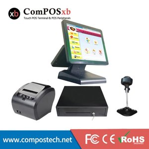 Monitors Wholeset Terminal Dual Screen 15+12 Inch Windows Point Of Sale 15 Cash Register For Supermarket