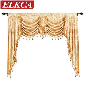 Yatak odası Mutfak için Salon Pencere Perdeler 1 Adet Valance Avrupa Kraliyet Valance Perdeler