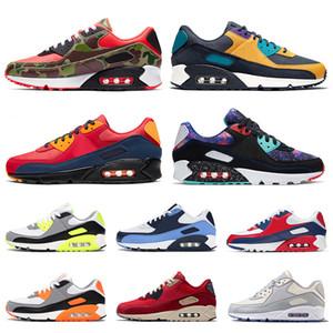 الجملة أعلى جودة 2020 إمرأة رجل 90 أحذية الجري الهواءماكسايرماكس كامو كامو لندن سوبر نوفاNike Air Max 90 AIRMAX 90 Max Air 90  OG فولت تنس المدربين أحذية رياضية