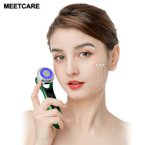 Electric Ultrasonic EMS Mesotherapy Electroporation lifting Beauty LED Photon Face Skin Rejuvenation Remover Wrinkle Massager