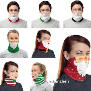 Protetor facial Chirstmas Máscara Bandana Neck Gaiter face exterior Lavável Design máscara de protecção contra pó Headband Lenço mágico Capa Scarf Escudo