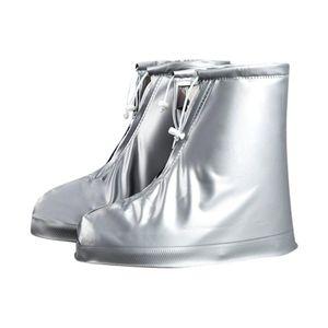 40# 1Pair reusable elastic shoe cover home indoor skid overshoes student room outdoor dustproof waterproof foot cover overshoes