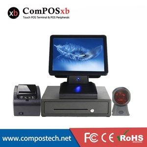 Professional Cash Register System15 بوصة شاشة بالسعة مع طابعة 80 ملم / 410 درج نقدي / ماسح 1D للسوبر ماركت