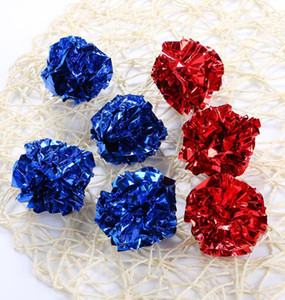 3.8cm Crinkle Ball Pet Cat Toys Multicolor Mylar Crinkle Sound Shiny Paper Play Balls Pet Toy Gifts Playing Balls GGA3698-5