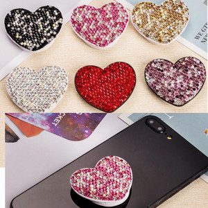 360 gradi Phone Holder unico del diamante di Bling basamento universale flessibile glitter barretta di Grip per iPhone Samsung S20
