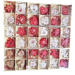 décoration de Noël cerf décoration boîte de couleur en bois flocon de neige de Noël arbre bonhomme de neige décoration boîte en bois décorations Saint-Valentin