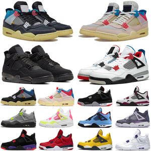 air retro 4 union Guava Ice 4s psg cactus jack travis scott off noir jumpman hommes femmes chaussures de basket-ball formateurs hommes baskets de sport