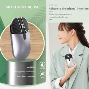 2.4G Беспроводная интеллектуальная Voice Mouse Optical 2 кнопки мыши Gamer 10M Voice Wireless Gaming для портативного компьютера