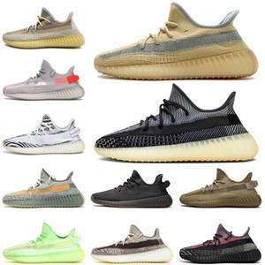 yeezy yeezys boost 350 kanye west v2 En İyi Kalite Keten Asriel Kanye Koşu Ayakkabıları ABEZ Yansıtıcı Elada Yecheil Statik GID Glow Zebra Erkek Bayan Tenis Eğitmenleri Sneakers
