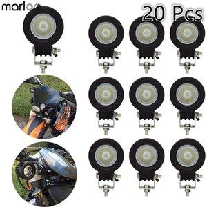 Marloo 20pcs 10W LED Work Light Offroad Car Auto Truck ATV Motorcycle Trailer 4WD Pickup 4X4 12V 24V Headlight Driving Fog Lamp