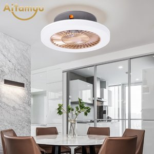 Modern LED Ceiling Fan Remote Control With Lights Indoor Home Ceiling Fans Good Sleep 50cm Three Color Changing