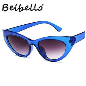 Belbello Lunettes de soleil rétro Mode féminine Lunettes de soleil hommes Tendance yeux européens américains chat vieilli Adulte plastique UV400