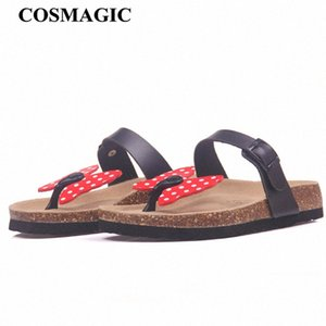 COSMAGIC Moda Cork deslizador de la sandalia de 2017 nuevo de las mujeres de playa del verano dulce color mezclado Buerfly remiendo de diapositivas de las chancletas de zapatos Comfortabl tUHE #