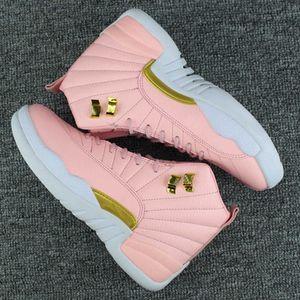 Femmes 12 GS Hyper Youth Rose Saint Valentin 12s Plum Fog Flu Jeu Basketball Chaussures Filles Taxi Maître Sneakers