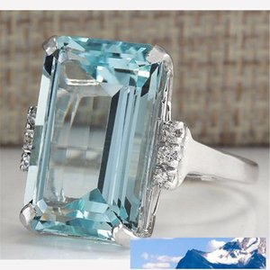 Ornaments Luxurious Support Palmer Stone Engagement Ring Blue Ring