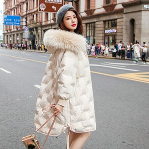 Women's Winter Down Jacket Hooded Coat Female Jacket Korean Woman Parkas Raccoon Dog Fur Collar 2020 Mujeres Abrigos Pph1319