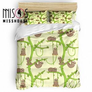 MISSHOUSE Loris delgado preguiça Animais edredon cobrir Set Roupa de cama Consolador Tampa Fronhas conjuntos de cama de bolinhas cama Modern Bed 2bOw #
