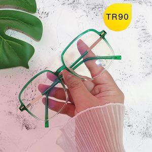 Unisex de los vidrios bloqueo de luz azul marco de la lente gafas redondas ordenador Anteojos de Mujeres Anti-UV Blue Rays Llanura Cristal Espejo