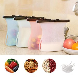 Food Bags Silicone Food Preservation Bag CookingPreservation Sealing Storage Container Food Fresh bags 1000ml Fresh Storage Containe LSK89