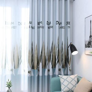Bedroom Kitchen Panel Door Sheer Room Printing Panel Divider Sheer Curtain