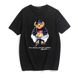 Les nouveaux hommes et femmes concepteur polo ours T-shirts imprimés printemps et coton été ours T-shirts, hip-hop rue T-shirts occasionnels