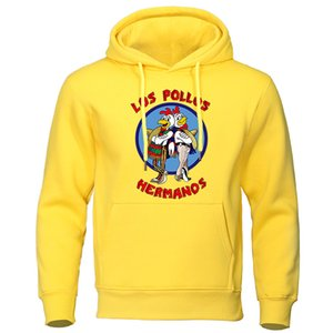 Los Pollos Hermanos Carta Imprimir Masculino Sueter Mens Hoodies 2020 Outono Inverno Alta Qualidade Hoodie Brothers Brothers