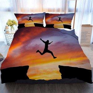 Постельные принадлежности 3 шт Пододеяльник наборы, человек прыгает по всему, Home Luxury Мягкое пуховое Одеяло Обложка 414