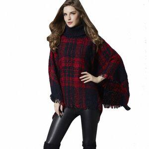 Srogem Casual Women Fashion Herbst Turtleneck Umhang Ärmel Tassel Sweater Gebunden blusa masculina inverno tmallfs modis croche 25 DWKt #