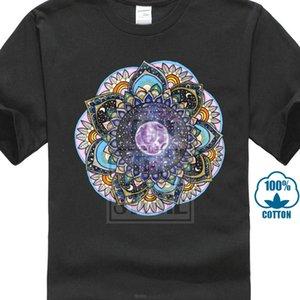 Луна Mandala футболки Мужчины Классический индийский Tshirt Для взрослого Street Style Мужской Дешевле тенниска хлопок Бесплатной доставки Anime