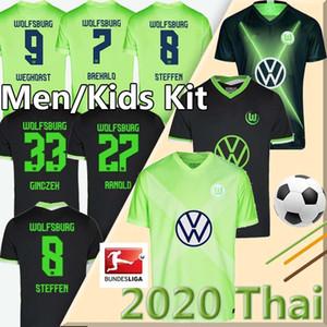 20 21 VfL Wolfsburg Soccer 2020 Weghorst 2021 STEFFEN Brekalo Football Shirt hommes ARNOLD Xaver + kids kit Jersey