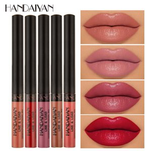 Multifunctionl Matte Liquid Lipstick Lip Liner Lips Makeup Nude Velvet Lip Gloss Cosmetics Silky Lipgloss Waterproof Lipliner
