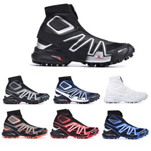 Новое поступление Snowcross CS Trail Зимний снег Штифеля сапоги Черный Вольт Синий Botas красный носок Chaussures мужские Кроссовки Winter Snow Загрузочные обувь