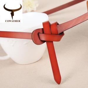 COWATHER Luxus Frauengurte Kuh echtes Leder Modedesign Bügel weibliche nette Qualität cinto feminino ursprüngliche Marke
