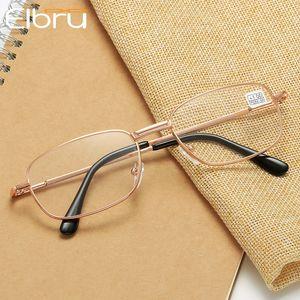 Elbru Oval Metal Reading Glasses Clear Lens Men Women Presbyopic Glasses Optical Spectacle Eyewear Prescription +1.0 TO 3.5