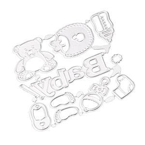 DIY Bebek Aksesuarları Metal Kesme DIY Scrapbook Fotoğraf Albümü Kağıt Craft Bebek Kart Verme Şablonlar Şablon Mold Dies
