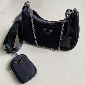 Best-seller designers de moda saco luxurys bolsa carteira alforjes Três tote combinação pedaço sacos de nylon sacos de ombro bolsa