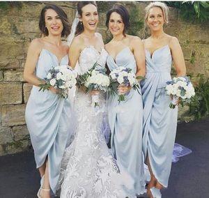 2021 Short Bridesmaid Dresses Sexy Spaghetti Straps Boho Garden Wedding Custom Made Maid Of Honor Dress