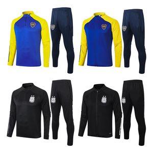 2021 Argentinien Hohe Qualität Boca Juniors Fußballtraining 2021 Sportkleidung der langen Hülse Fußballtrainingsanzug Boca Thai Qualität Jacke Männer